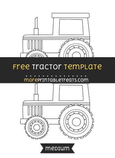 Free Tractor Template Medium Farm Theme Crafts Templates Printable Printables