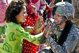 Soldat, Armée De Terre, Enfant, Femme
