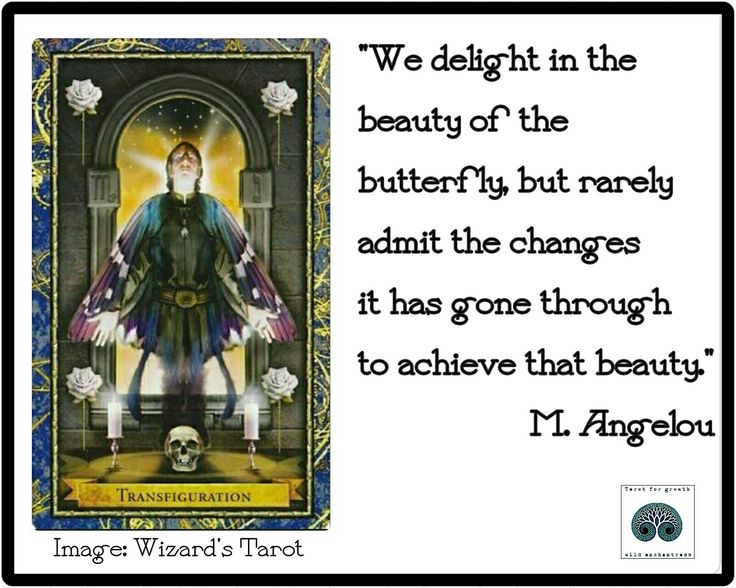 Transfiguration / Death Card  - Wizards Tarot