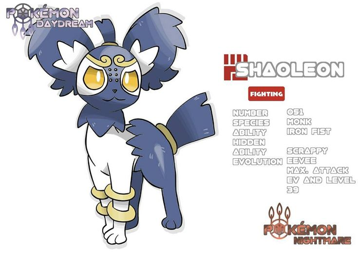 Introducing my last Eeveelution, fighting type - Shaoleon  . You can meet Shaoleon up in the northern parts of Palula. They wear iron rings as weights on their legs, for training. With their strong feet they are able to move very fast. . #fakemon #pokemon #pokemongo #pokemonultramoon #pokemonultrasun #pokemonart #fakemonart #draw #drawing #art #digitalart #pokemonartist #pokemonregion #alola #pokemonx #pokemony #pokemonsun #pokemonmoon #medibang #eevee #eeveelutions #eeveelution #cute…