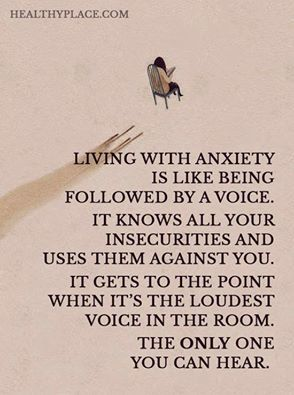 Anxiety problems...