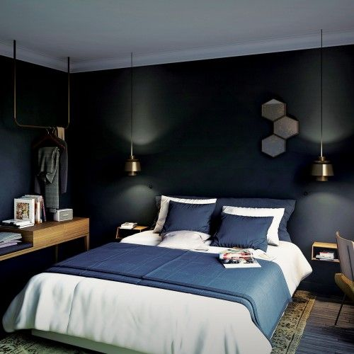 """Although each of our 50bedrooms is unique, they all promote the """"Made in France"""". Each lamp, each piece of furniture have been designed with the same attention to detail and the same desire to value modern French know-how."""