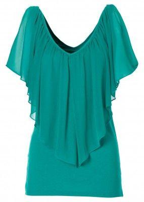 Mangolino Dress - MANGOLİNO DRESS MD1302 Büyük Beden Bluz Yeşil