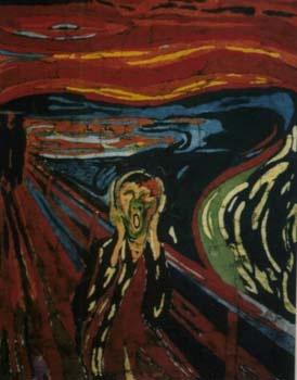 "Batiks of famous art - - The Norsk ""scream"""