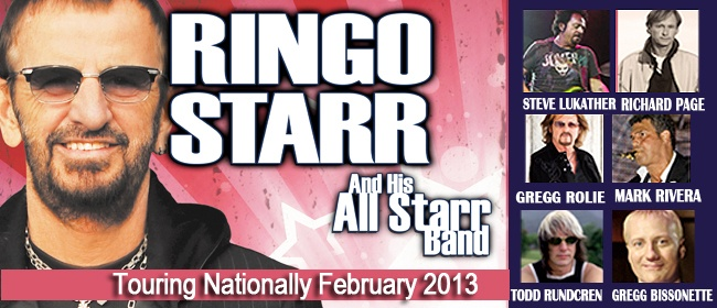 Ringo Starr & His All Starr Band are coming to Queensland in 2013!