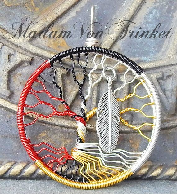 Medicine Wheel Tree Of Life Pendant  Native American -1112