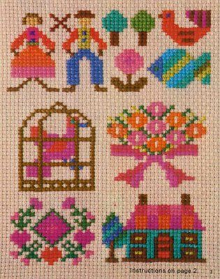 doe-c-doe: 1976 ondori simple cross stitch book