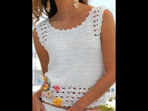 Blusa y Falda a crochet - YouTube