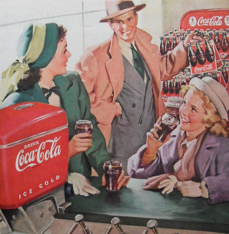 1940s advertising | 1940s Coca Cola Advertisement Vintage Illustration - a photo on ...