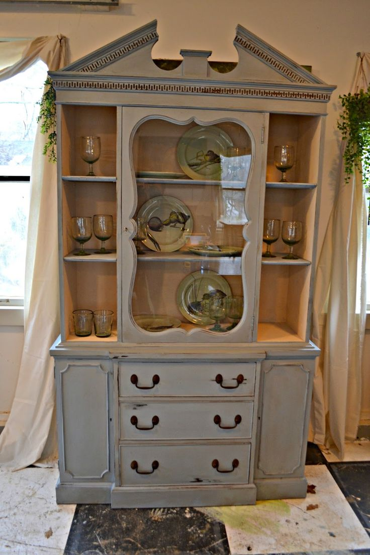 Farmhouse Pine Wood Corner Hutch from DutchCrafters Amish ...