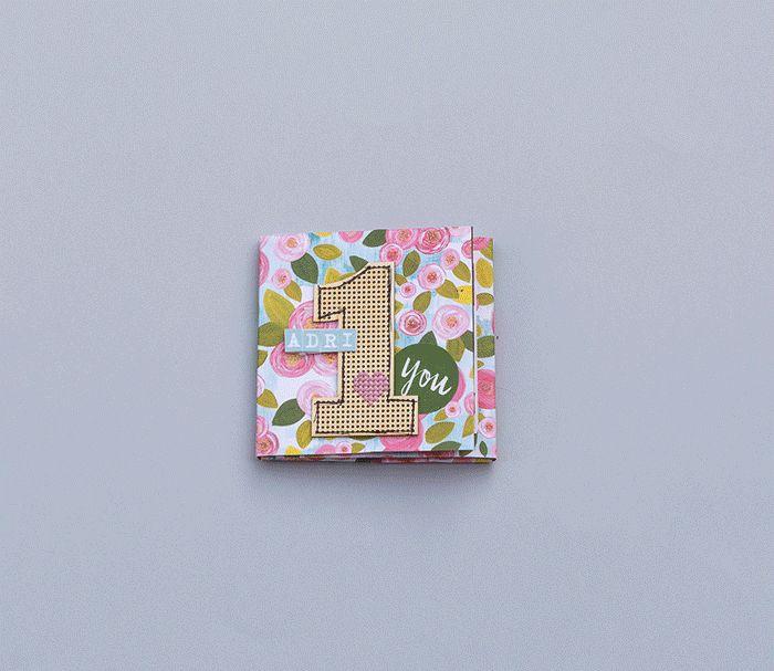 One page scrapbook mini album | ScrapBolt.hu Blog