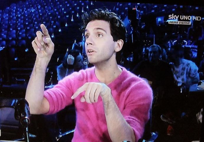 Mika - love the shirt (and the man in it obvs) X Factor