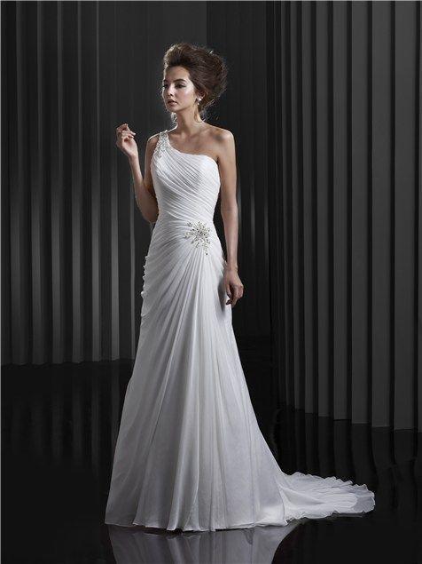 Enzoani one-shoulder wedding dress
