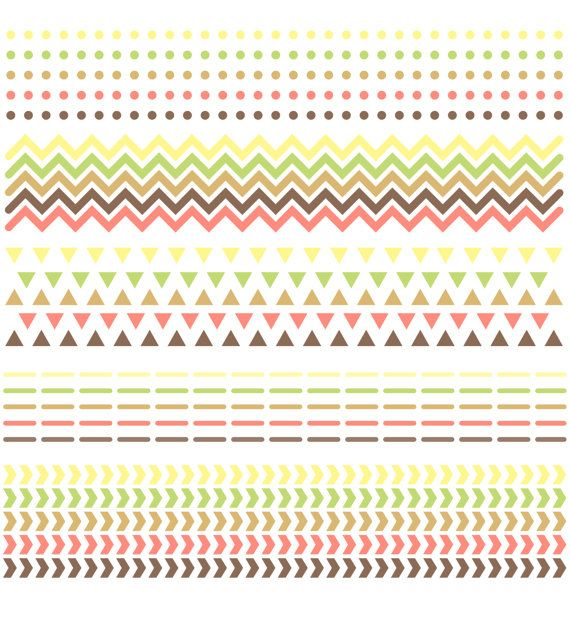 Digital Scrapbook Borders // Chevron Triangles by thePENandBRUSH, $5.00