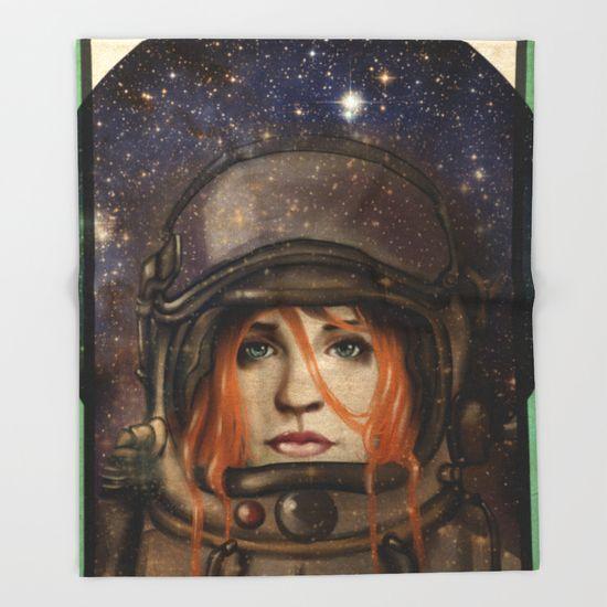 "THROW BLANKET/ 51"" X 60"" BLANKET Give me Space (Girl) by Fla'Fla' $49.00"