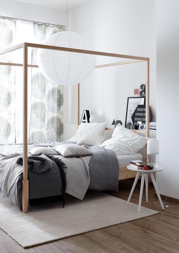 die besten 25 vorh nge ums bett ideen auf pinterest lange gardinen fenster hinter dem bett. Black Bedroom Furniture Sets. Home Design Ideas