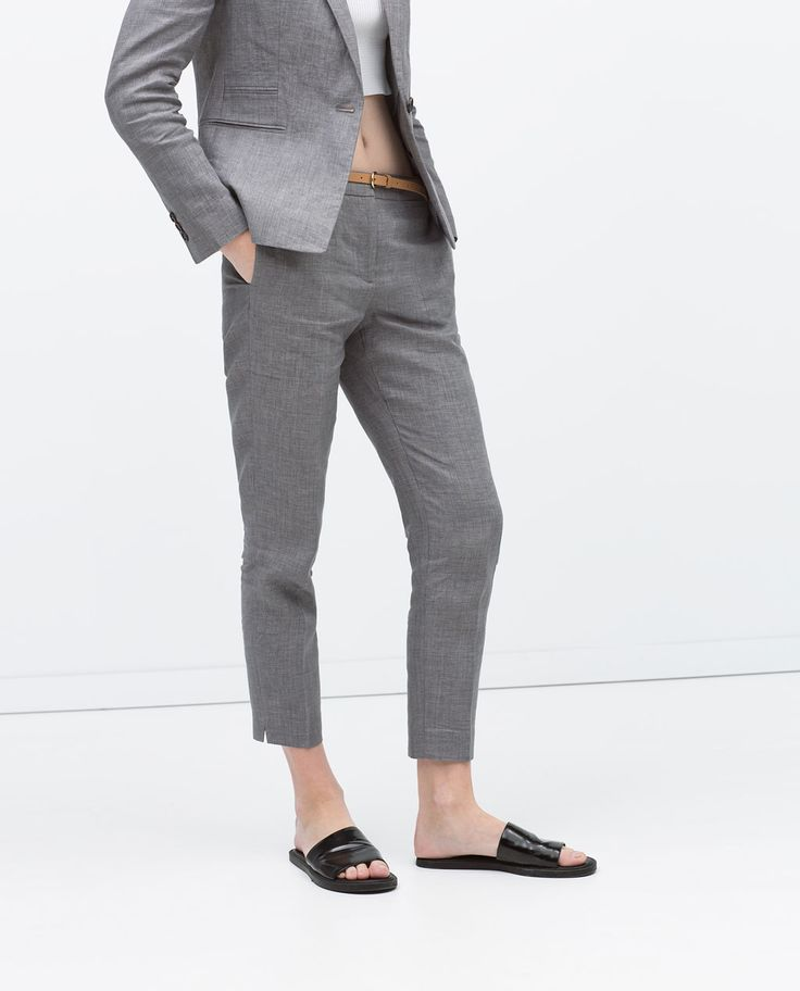 LINEN TROUSERS-View all-Trousers-WOMAN | ZARA United States