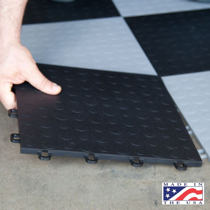 "BlockTile - Modular Interlocking Garage Floor Tiles - 12"" x 12"" x 1/2"" - 30 pk. - Sam's Club"