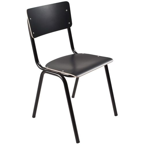 Zuiver Chair back to school HPL black