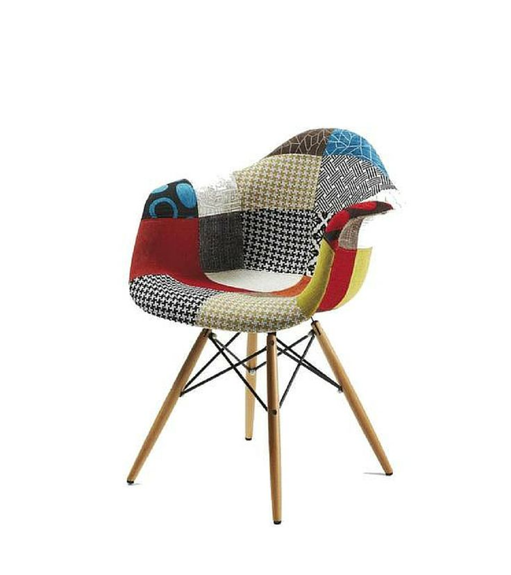 Patchwork Chair with choice of base – Onske