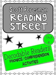 Life in First Grade: Unit 4 Scott Foresman Decoable Reader Activities