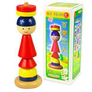 Кэндис го деревянные игрушки деревянные блок детский сад мини-клоуна куклы вдохновил разнообразие Восточных детские Монтессори преподавания подарок на день рождения