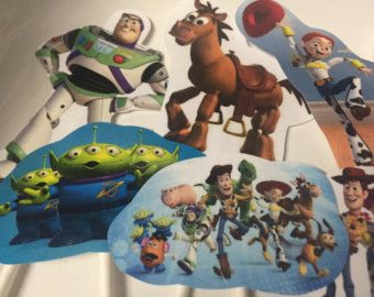 Toy Story Cupcake Toppers por DigiPartyShoppe en Etsy