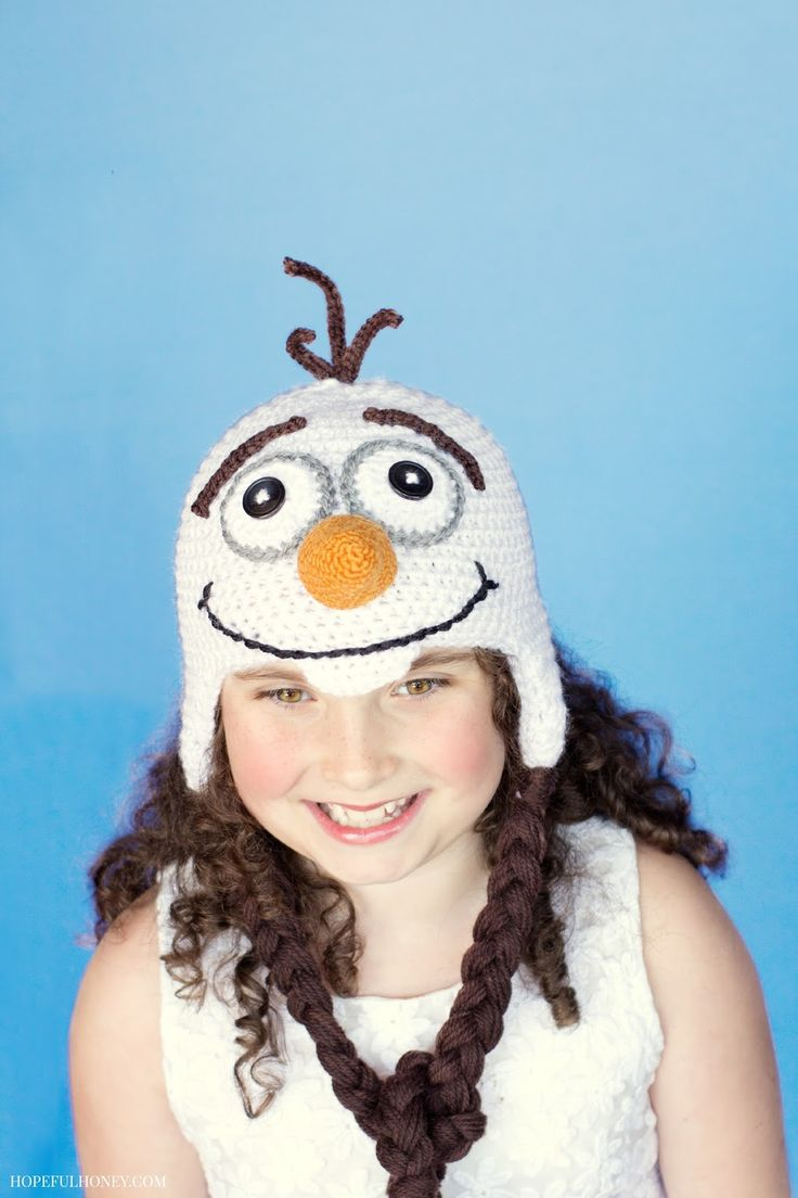 This is the best one I've found so far - gonna try it! Frozen Olaf Inspired Hat Crochet Pattern