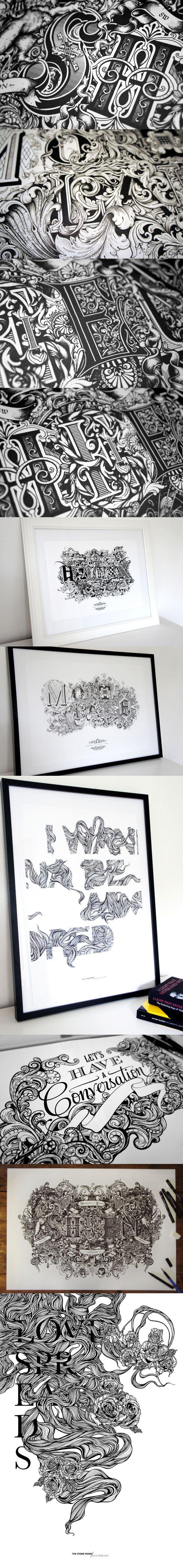Les impressionantes réalisation typographiques et ornementales de Greg Coulton.