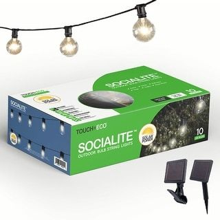 SOCIALITE 20ft Solar Edison LED Solar String Patio Lights