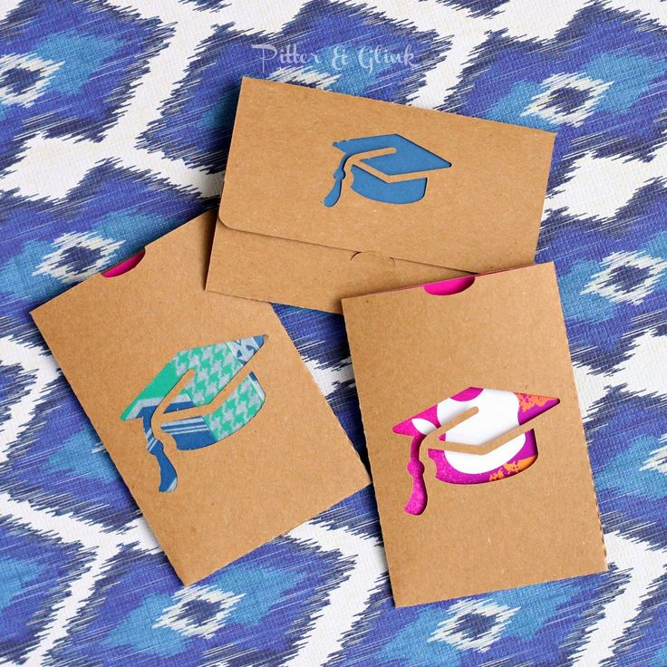 Graduate Gift Card Holders with Free Cut File www.PitterandGlink.com