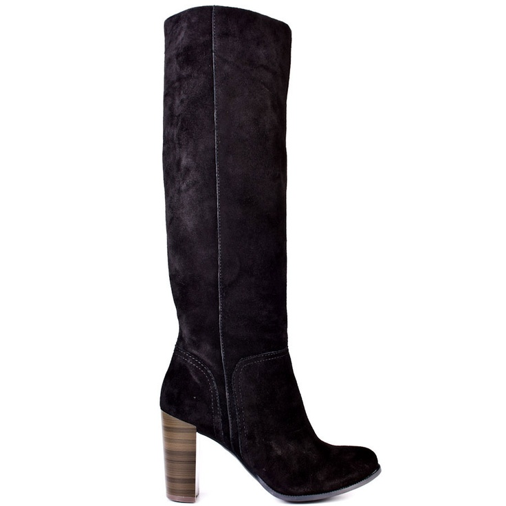 If you're wishing for that perfect fall boot, then this BCBGeneration style is ready to join your wardrobe.  Wish features a soft black suede upper and is easy to pull on.  A faux wood 3 3/4 inch block heel gives you just the right amount of height.  The outfit possibilities are endless with this versatile style.