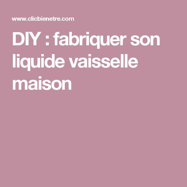 DIY : fabriquer son liquide vaisselle maison