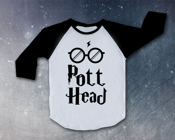 the pott head Harry Potter movie Shirt Top Raglan christmas gift present