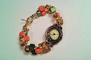 bransoletka z zegarkiem