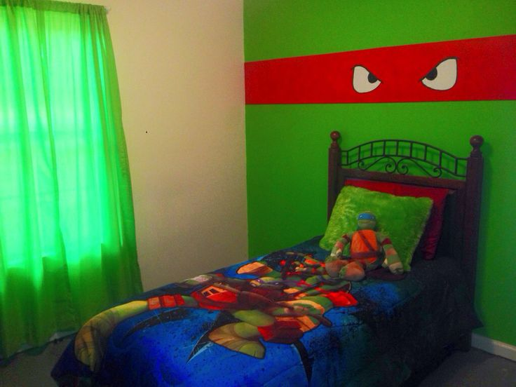 Aidens new ninja turtle room!!  Came out too stinkin cute!!