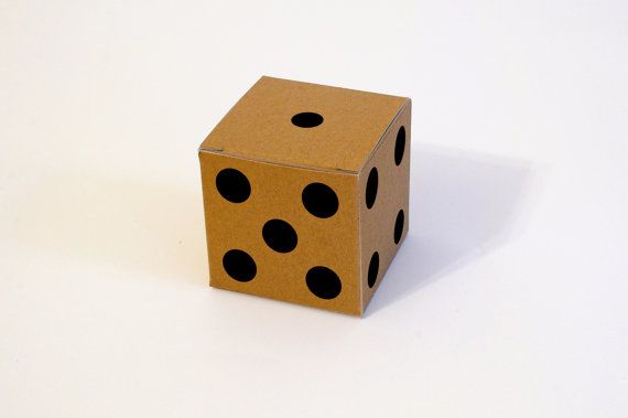 10 White Gray and Kraft Dice pattern Gift Boxes by FunkyBoxStudio, $7.00