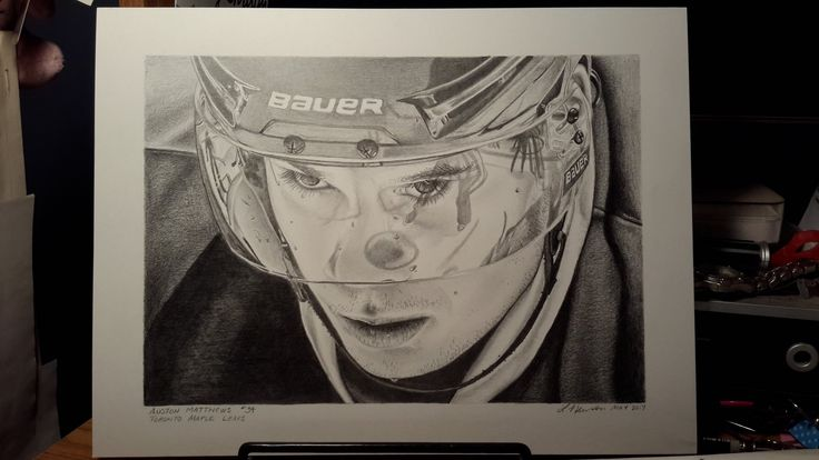 """""""Ok #Leaf fans, @MapleLeafs, my latest drawing. Tell me what you think. I would really love your opinion @AM34!"""""""