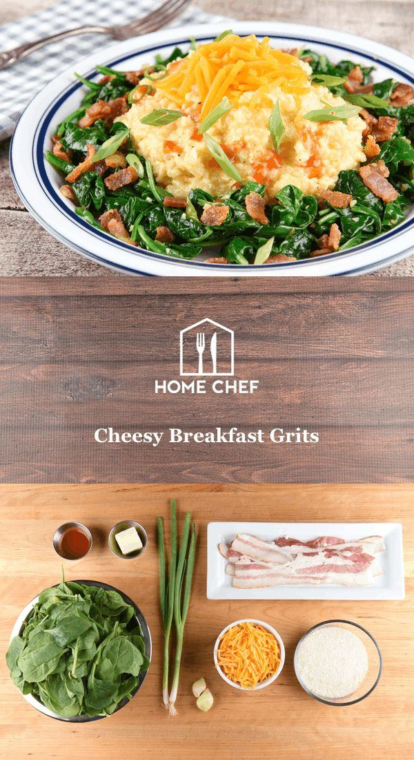 Put a little Southern charm on your breakfast plate with these cheesy grits. Smooth and cheddar-y corn grits are the perfect stick-to-your-ribs meal to start your stay off right, and our version studded with smoky bacon and wilted spinach is definitely next level. Top the whole thing off with a couple drops of hot sauce for a welcome kickstart to your morning.