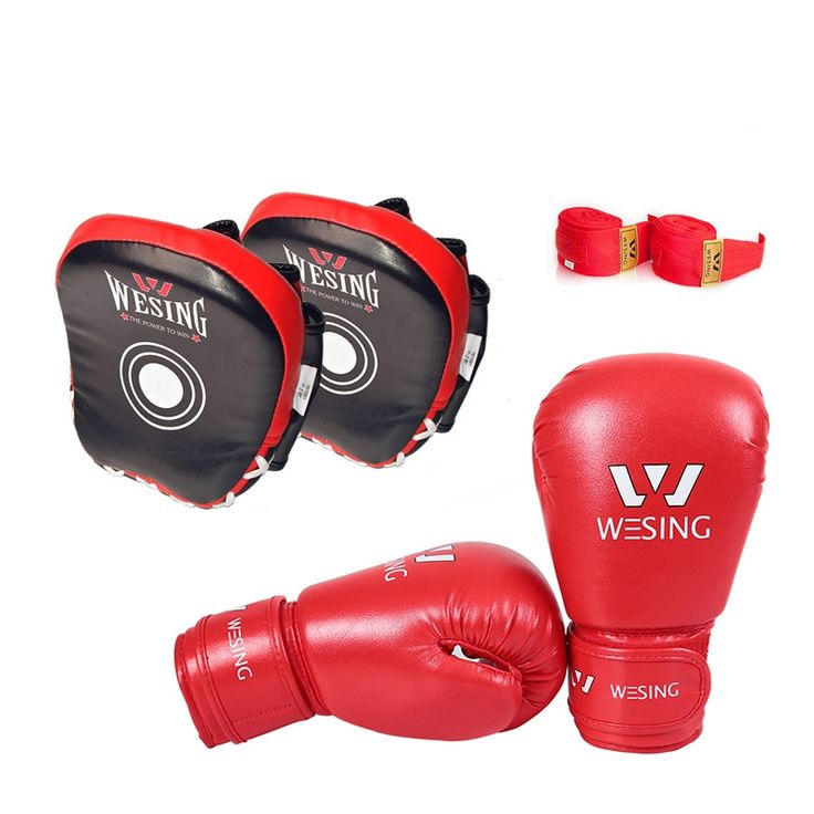 49.99$  Buy here  - 3 set wesing kids boxing training equipment gear  boxing gloves boxing punch mitts boxing handwraps