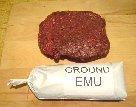 Emu actually has a few times the iron content of beef. It's virtually fat-free and is low in cholesterol. The Australian native animal works well when smoked and served cold or as a pizza topping.