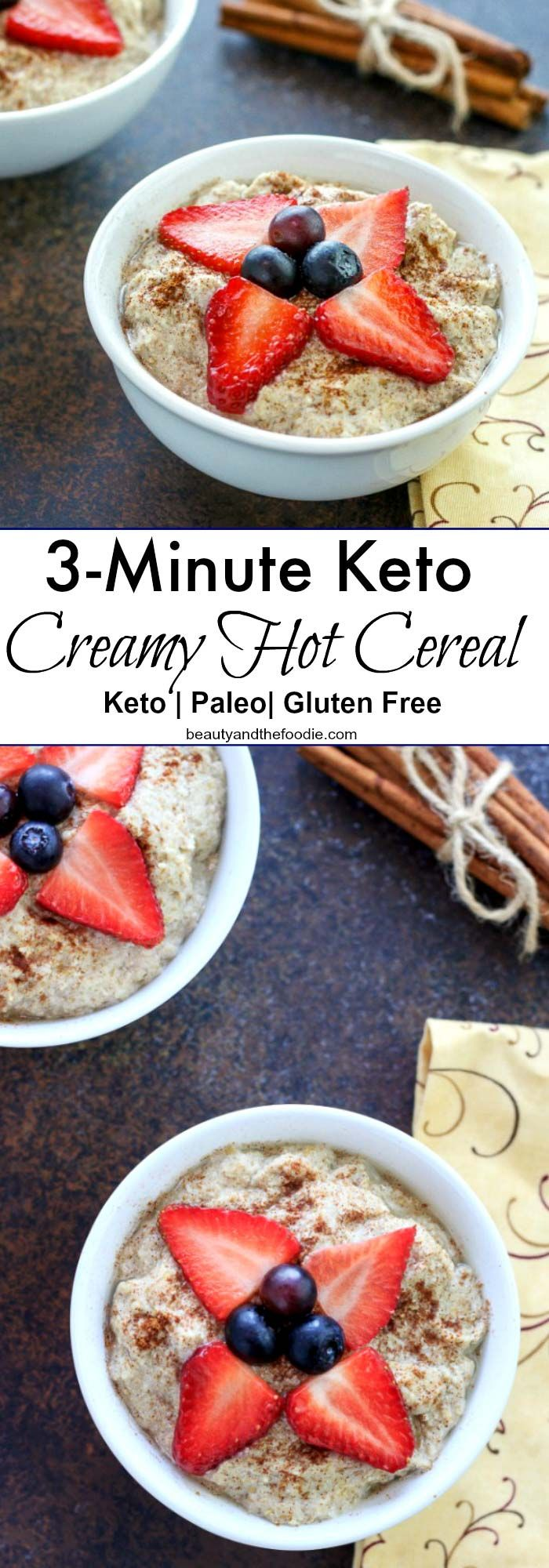 3-Minute Keto Creamy Hot Cereal- Paleo and Low Carb.