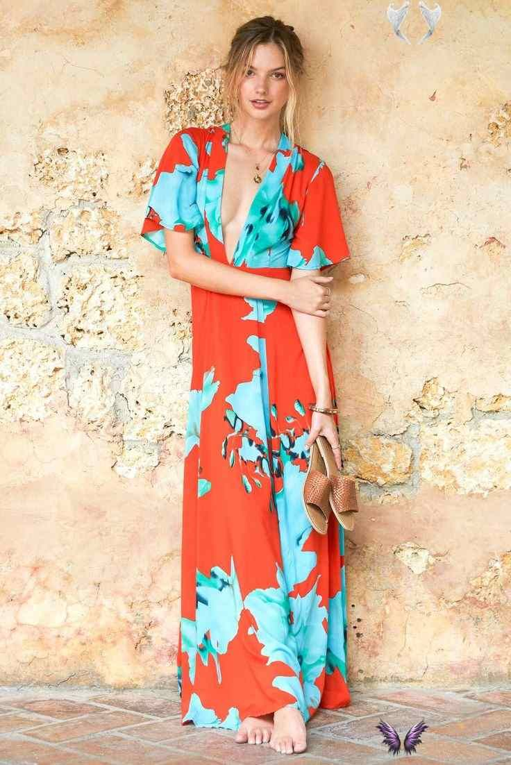 A Wedding Guest Outfit For Every Type Of Beach Destination On The Road Kimono Sleeve Maxi D Beach Wedding Guest Dress Beach Wedding Outfit Wedding Attire Guest [ 1102 x 736 Pixel ]