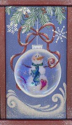 snowman tole paintings free | Decorative Painting Christmas