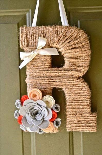 Our versatile, high quality twine monogram wreaths are completely personalized and serve as the perfect gift to any occasion or provide an elegant solution to customize the decor of any room or front door!