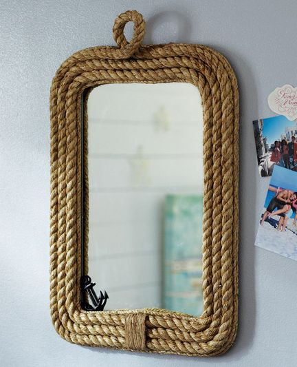 Obviously not with rope but could we attach trim or beading around your bathroom mirror?