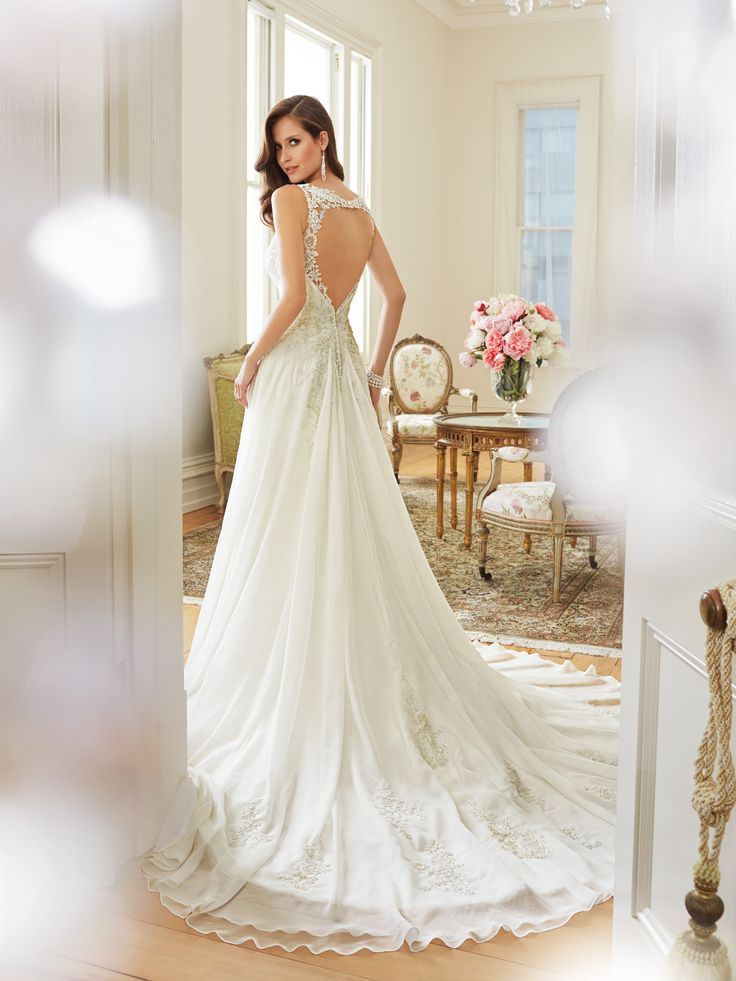 Angel Chiffon Receives A Modern Update With Linnet Slim Line Gown That Wedding Dresses On SaleBackless