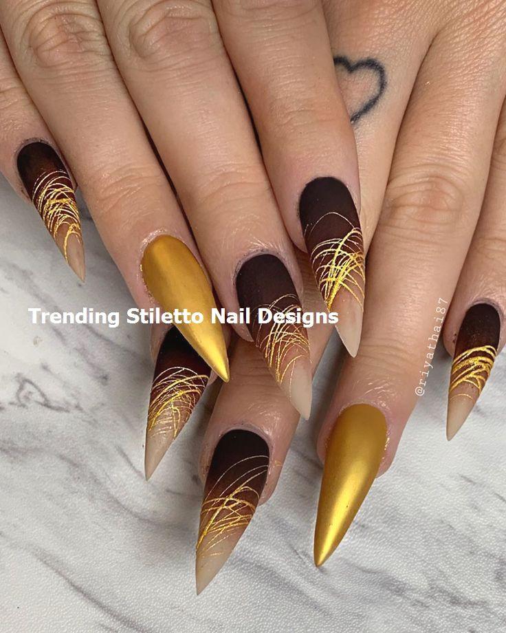 30 Great Stiletto Nail Art Design Ideas 1 Nailart Stilettonails In 2020 Stiletto Nails Designs Pretty Nail Art Black Stiletto Nails