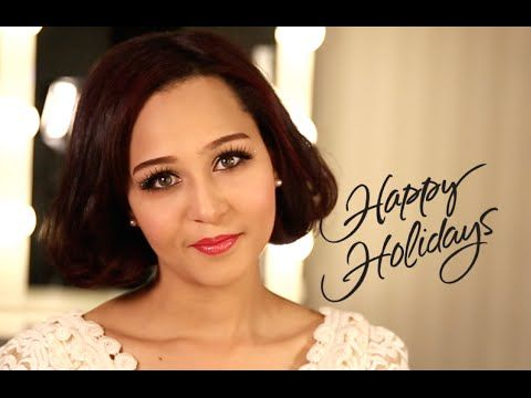 Romantic Date or Holiday party makeup 로맨틱 홀리데이 메이크업 - YouTube