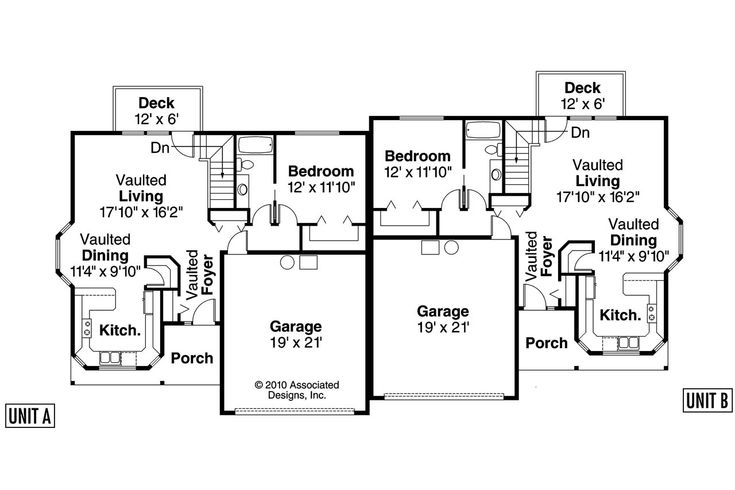 Duplex Floor Plans With Double Garage Best 25 Duplex Plans Ideas On Pinterest Duplex House